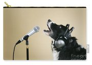Border Collie Dog Singing Carry-all Pouch