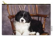 Border Collie Puppy On Chair Carry-all Pouch