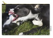 Border Collies Playing Carry-all Pouch
