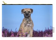 Border Terrier Dog, In Heather Carry-all Pouch