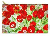 Bordered Red Tulips Carry-all Pouch