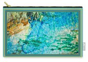 Borderized Abstract Ocean Print Carry-all Pouch