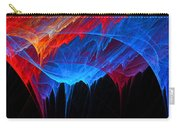 Borealis - Blue And Red Abstract Carry-all Pouch
