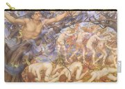 Boreas And Fallen Leaves Carry-all Pouch by Evelyn De Morgan