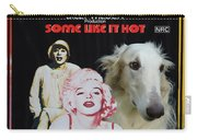 Borzoi Art - Some Like It Hot Movie Poster Carry-all Pouch