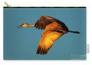 Bosque Del Apache Sandhill Crane Golden Light Carry-all Pouch