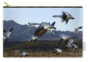 Bosque Del Apache Snow Geese In Flight Carry-all Pouch by Bob Christopher