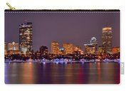 Boston Back Bay Skyline At Night Color Panorama Carry-all Pouch