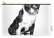 Boston Bull Terrier Carry-all Pouch