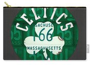 Boston Celtics Basketball Team Retro Logo Vintage Recycled Massachusetts License Plate Art Carry-all Pouch