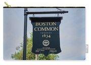Boston Common Park Sign, Boston, Ma Carry-all Pouch