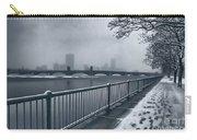 Boston Longfellow Bridge-snow Cityscape Carry-all Pouch
