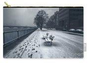 Boston Longfellow Bridge-snow Cityscape V2 Carry-all Pouch
