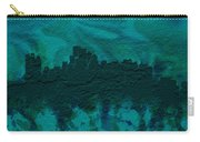 Boston Skyline Brick Wall Mural Carry-all Pouch