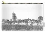 Boston Skyline Faux Pencil Carry-all Pouch