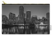 Boston Skyline Seaport District Bw Carry-all Pouch