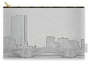 Boston Skyline Stencil Carry-all Pouch
