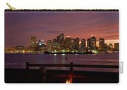 Boston Skyline Sunset Carry-all Pouch