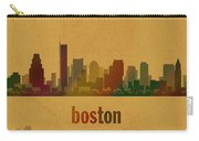Boston Skyline Watercolor On Parchment Carry-all Pouch