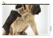 Boston Terrier And Mastiff Carry-all Pouch