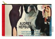 Boston Terrier Art - Breakfast At Tiffany Movie Poster Carry-all Pouch