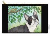 Boston Terrier Dog Tree Frog Cathy Peek Art Carry-all Pouch