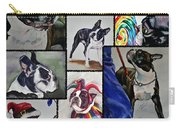 Boston Terrier Watercolor Collage Carry-all Pouch
