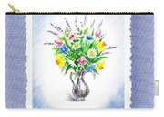 Botanical Impressionism Watercolor Bouquet Carry-all Pouch