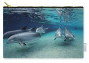 Bottlenose Dolphins In Shallow Water Carry-all Pouch
