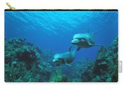 Bottlenose Dolphins Over Reef Carry-all Pouch
