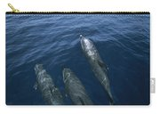 Bottlenose Dolphins Surfacing Shark Bay Carry-all Pouch