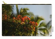 Bougainvilleas And Palm Trees Swaying In The Wind In Waikiki Honolulu Hawaii Carry-all Pouch