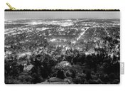 Boulder Colorado City Lights Panorama  Black And White Carry-all Pouch