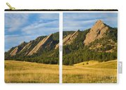 Boulder Colorado Flatirons White Window Frame Scenic View Carry-all Pouch