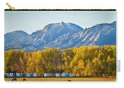 Boulder County Colorado Flatirons Autumn View Carry-all Pouch