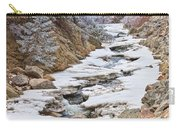 Boulder Creek Frosted Snowy Portrait View Carry-all Pouch