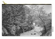 Boulder Creek Winter Wonderland Black And White Carry-all Pouch