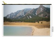 Boulder Flatirons Beachfront Property Poster White Carry-all Pouch