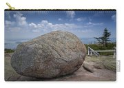 Boulder On Top Of Cadilac Mountain In Acadia National Park Carry-all Pouch