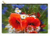 Bouquet Of Fresh Poppies Camomiles And Cornflowers Carry-all Pouch