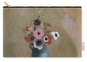 Bouquet Of Anemones Carry-all Pouch by Odilon Redon