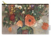Bouquet Of Flowers In A Vase Carry-all Pouch by Odilon Redon