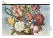 Bouquet Of Flowers On A Ledge Carry-all Pouch