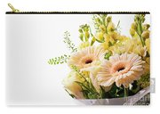 Bouquet Of Flowers On White Background Carry-all Pouch
