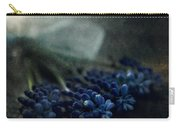 Bouquet Of Grape Hyiacints On The Dark Textured Surface Carry-all Pouch