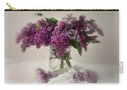 Bouquet Of Lilacs In A Glass Pot Carry-all Pouch