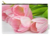 Bouquet Of Pink Tulips. Carry-all Pouch