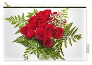 Bouquet Of Red Roses Carry-all Pouch by Elena Elisseeva