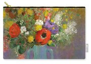 Bouquet Of Wild Flowers  Carry-all Pouch by Odilon Redon