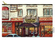 Boutique Mary Seltzer Dress Shop Cote St Luc Montreal Paintings Hockey Art City Scenes Cspandau Carry-all Pouch